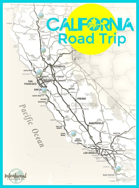 california map road trip california road trip stops to south intentional