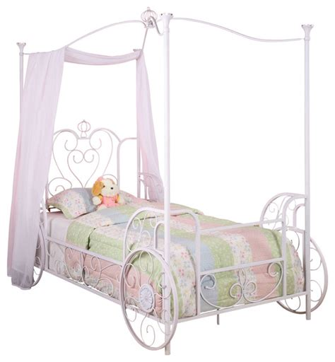 twin princess bed frame powell princess emily carriage canopy twin size bed