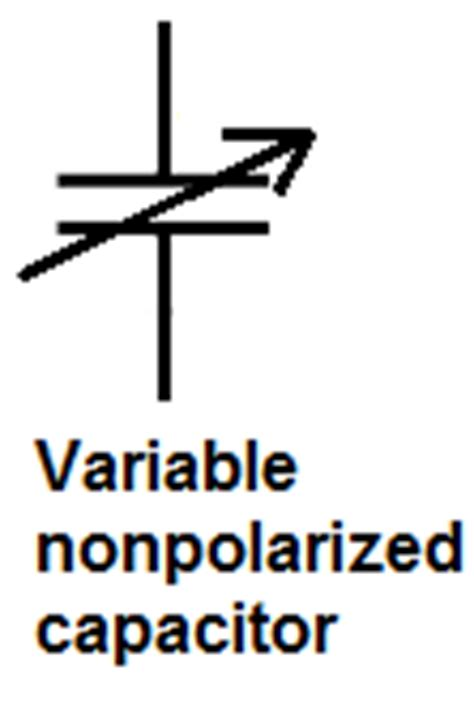 variable capacitor symbol capacitor schematic symbols