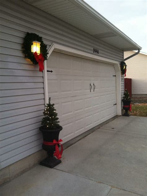Holiday Home Decorating Garage Door Decor Completes The Garage Door Decor