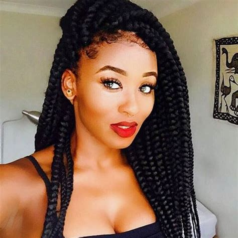 pics of chunky braided styles hairspiration love these chunky box braids on bkmsang