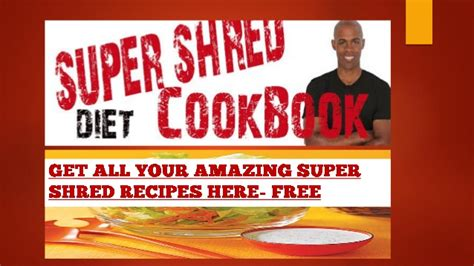 Dr Ian Smith Detox Diet by Shred Diet Cookbook And Recipe To Help With The