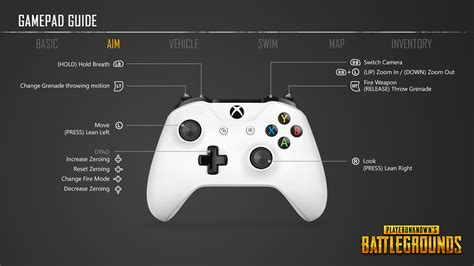 game controller layout playerunknown s battlegrounds controller layout and
