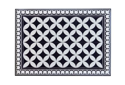 Vinyl Kitchen Rugs Pvc Vinyl Mat Tiles Pattern Decorative Linoleum Rug Color Black White 132 Pvc Rug Kitchen