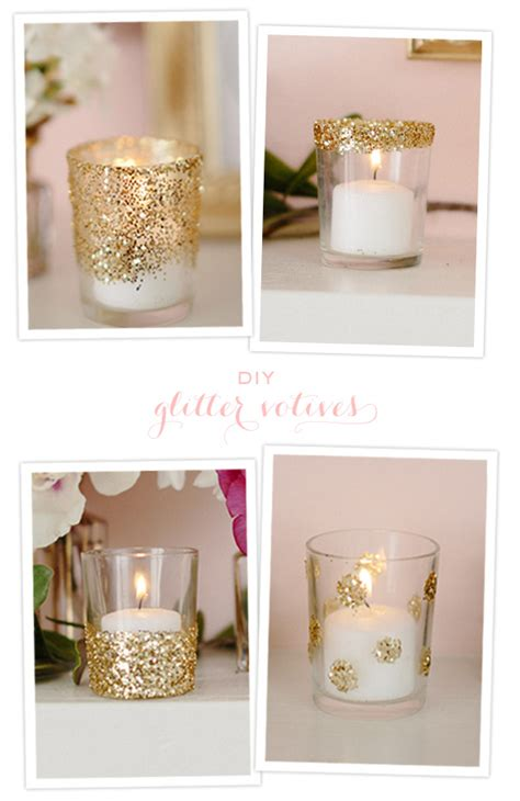diy home decor christmas diy glitter votives diy projects 100 layer cake