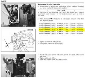 Ktm 450 Valve Adjustment Pin Thread Ktm 450 Smr 2009 On