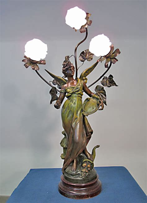 Bradford Dining Room Furniture Spelter Angel Lamp By Louis Moreau