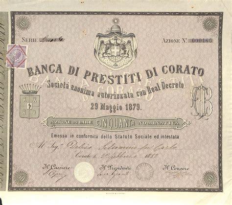 banco di napoli prestito di prestiti di corato titolo finanziario storico