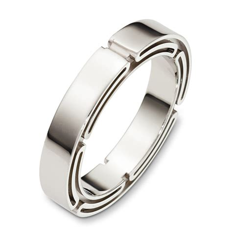 s 18k white gold band 400