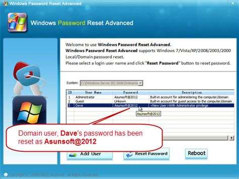 asunsoft windows password reset personal asunsoft windows password reset advanced trial crack