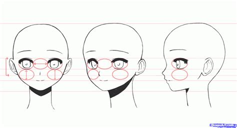 How To Draw Anime Girl Faces Step By Step Anime Heads