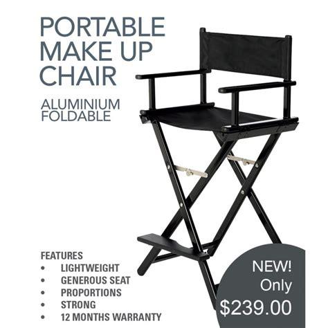 Chair Trolley Amc aqua aluminium foldable makeup chair directors chairprofessional make up salon supplies