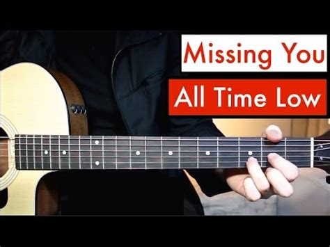 tutorial guitar officially missing you all time low missing you guitar lesson tutorial