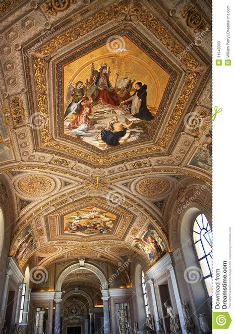 Vatican Museum Ceiling Paintings by Vatican Museum Painted Ceiling Rome Italy Editorial Image Image 11940390