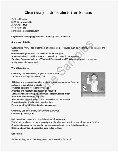 Sle Resume For Operation Technician sle resume for lab technician 28 images lab assistant