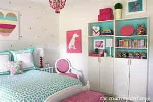 Diy Girls Bedroom Little Girl S Room Revamped To Bright And Bold Tween Room
