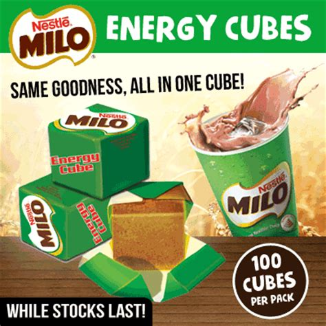 Milo Cube By Makeup Addicts qoo10 in stock receive same day milo energy cubes