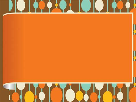 Circles Frame Powerpoint Templates Border Frames Orange Free Ppt Backgrounds And Templates Border Templates For Powerpoint