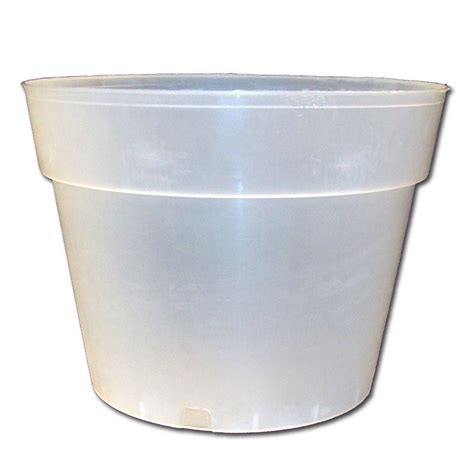 Clear Planter Pots by 10 Quot Rigid Clear Plastic Pot