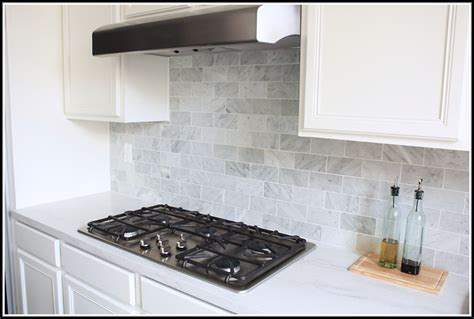carrara marble subway tile kitchen backsplash carrara marble subway tile backsplash tiles home