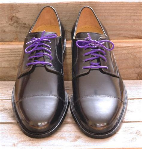 colored dress shoelaces 2 pairs royal purple groom
