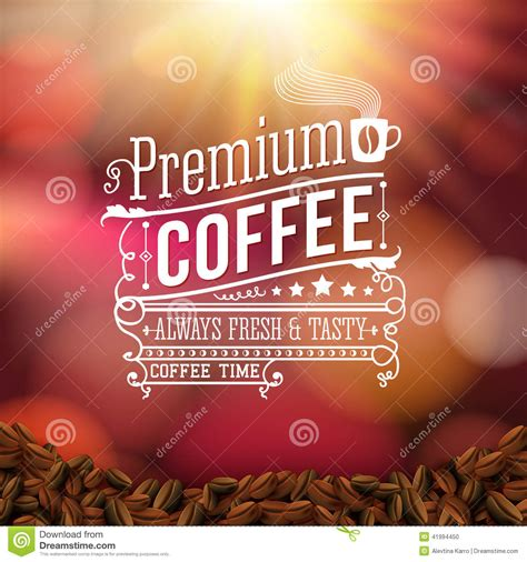 soft typography premium coffee advertising poster typography design on a