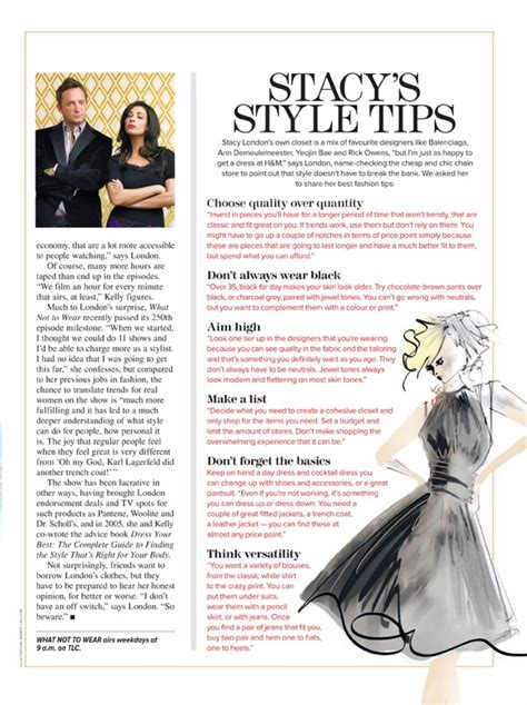 wardrobe tips stacy london s top style tips on the daily express