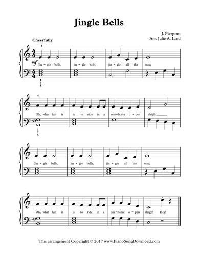 jingle bells lyrics printable version 72 best christmas piano sheet music printable for all ages