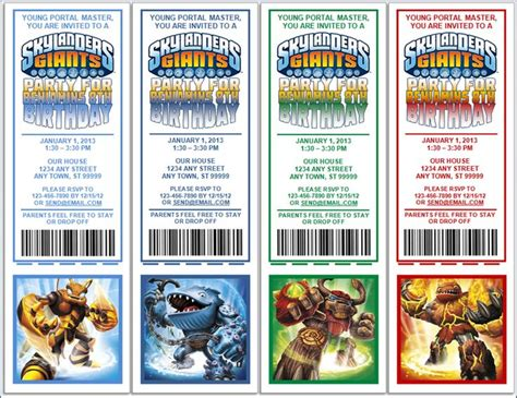 skylanders party invitations other birthday decorations