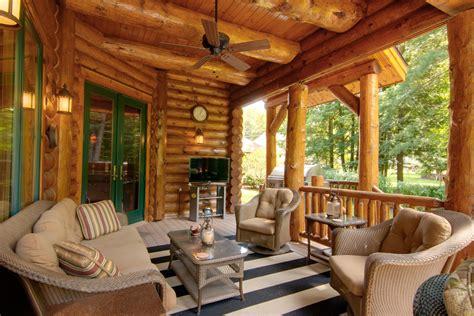 log cabin porch dreams decor pinterest outdoor entertainment areas for your log home