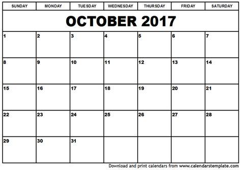 Calendar October 2017 Usa October 2017 Calendar Usa Printable Template With Holidays