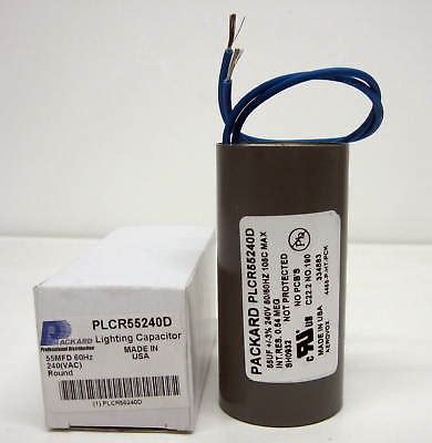 hid capacitor size plcr55240d hid lighting capacitor 55 mfd uf 240 volts ebay