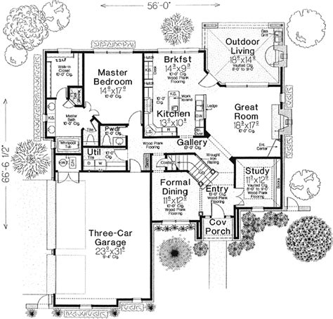 European Style Floor Plans by European House Plan 4 Bedrooms 3 Bath 2663 Sq Ft Plan