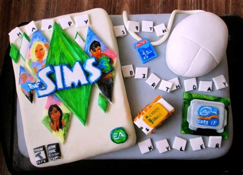 Theme Only Not Include Biscuit i m not 19 but i the sims and i this cake awesome cakes sims