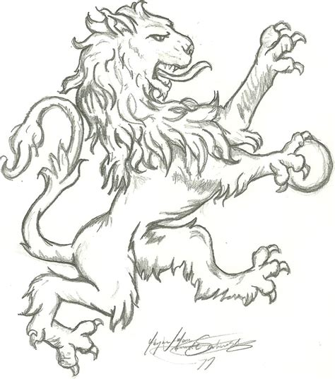 english lion first draft by dingodreamtime on deviantart