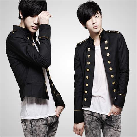 Blazer Navy Jas Pria Slimfit Korean Style Casual Pesta Kerja s stylish korean style slim fit multi button deco casual blazer jacket coat ebay