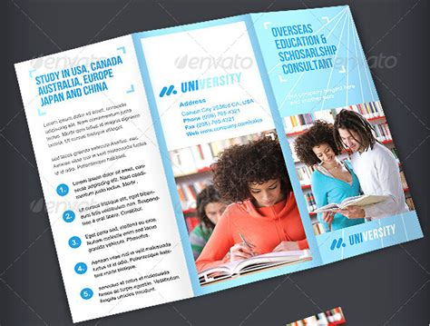 phlet template illustrator learning center u0026 elementary brochure template design
