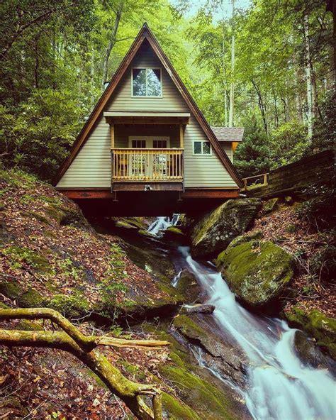 building a frame cabin built a creek rebrn