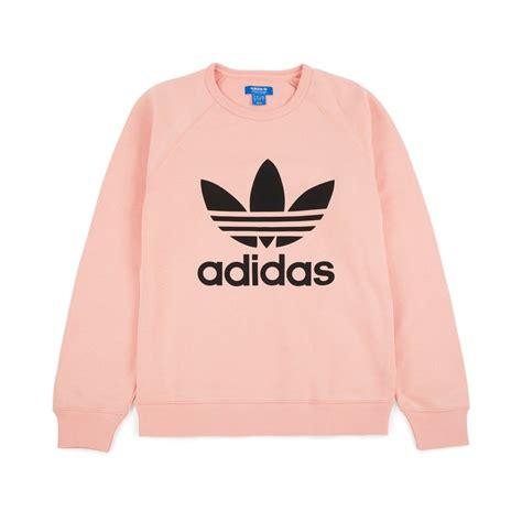 Adidas Logo V Neck Vapour Pink Original adidas originals trefoil crewneck vapour pink 59 00 bq7527 sweatshirts crewneck
