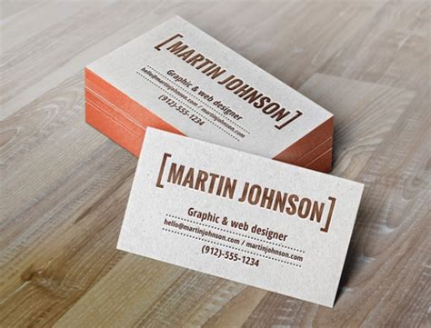 letterpress business card psd mockup template business cards mockup with letterpress psd file free