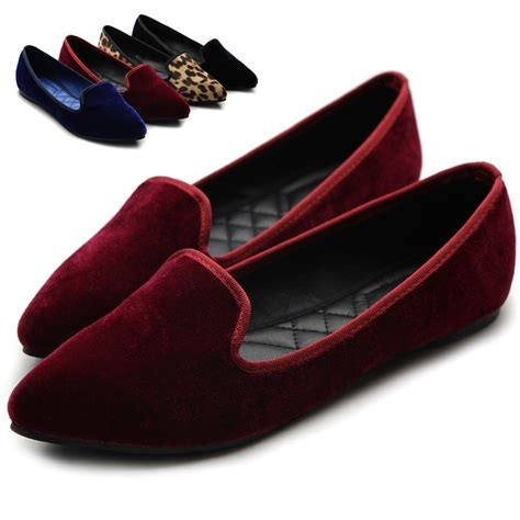 velvet flat shoes ollio womens ballet comfort faux velvet warmth shoes multi