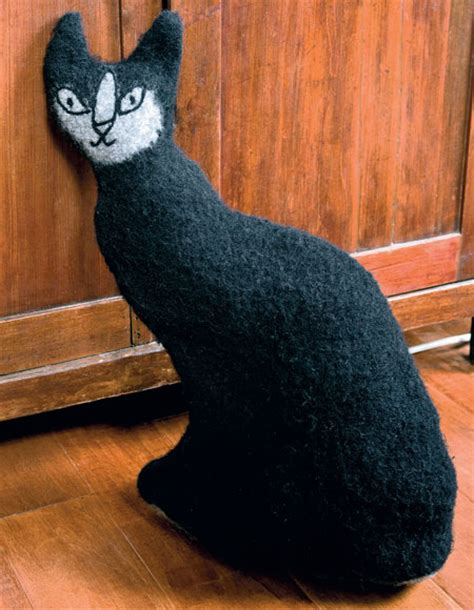 pattern cat doorstop felted cat doorstop pattern knitting patterns and