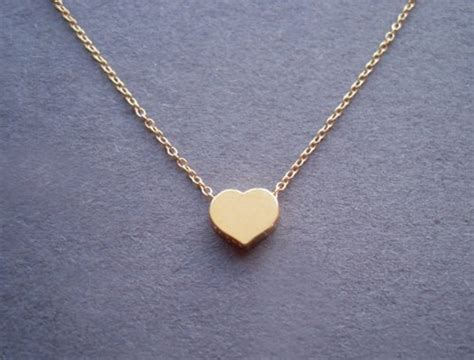 simple gold vermeil pendant gold filled chain