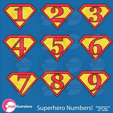 printable superhero numbers superhero numbers clipart superhero number symbols