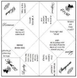 cootie catcher wedding program template pin cootie catcher template on