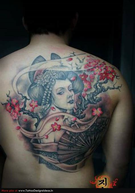 geisha tattoo with cherry blossoms geisha tattoo cherry blossom n geisha tattoo design