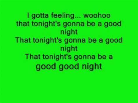 testo feeling i gotta feeling lyrics testo