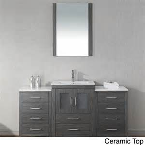 virtu usa 60 inch single sink vanity set in zebra
