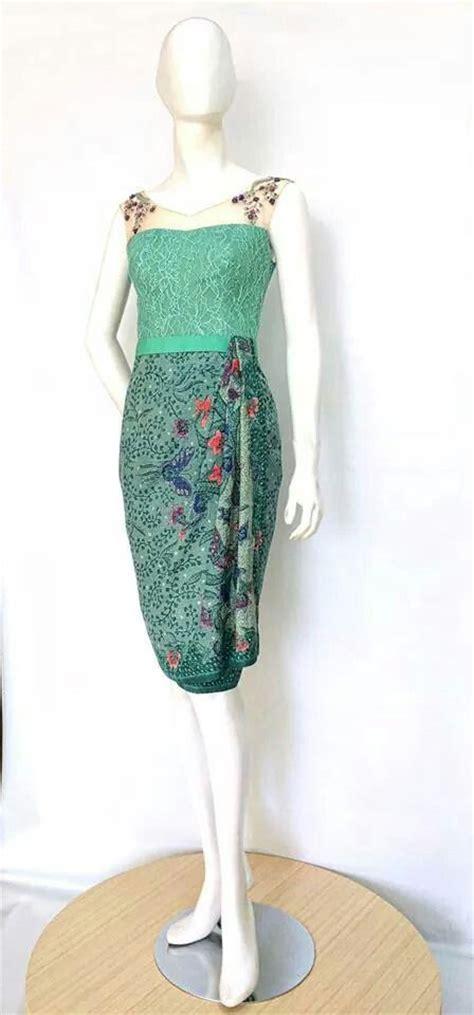 Hem Ikat Tosca batik tenun indonesia kebaya my style turquoise sleeve and skirts