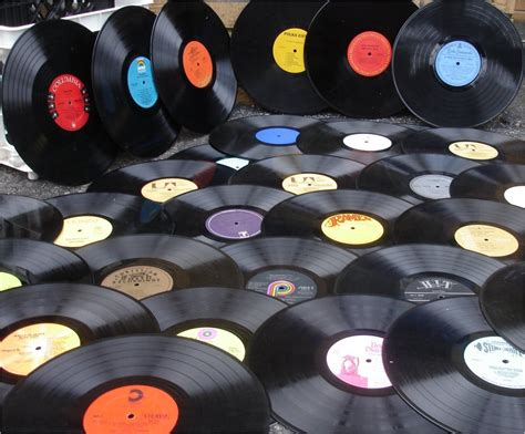 In Records Lot Of 50 Vintage Vinyl Records For Crafts By Xboutique